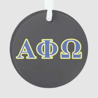 Alpha Phi Omega Yellow and Blue Letters Ornament