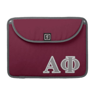 Alpha Phi Silver Letters Sleeve For MacBooks