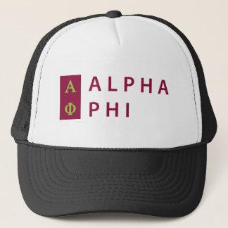Alpha Phi | Stacked Trucker Hat