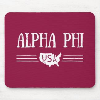 Alpha Phi USA Mouse Pad