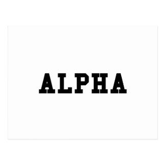 Alpha Postcard