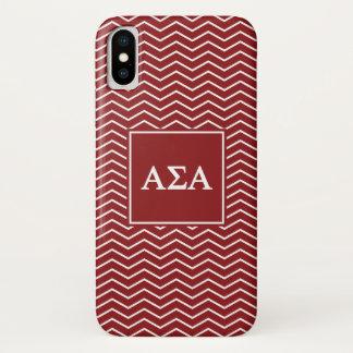 Alpha Sigma Alpha | Chevron Pattern iPhone X Case