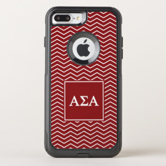 Alpha Sigma Alpha | Chevron Pattern OtterBox Commuter iPhone 8 Plus/7 Plus Case