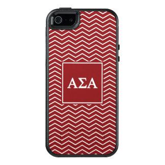 Alpha Sigma Alpha | Chevron Pattern OtterBox iPhone 5/5s/SE Case