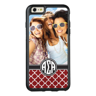 Alpha Sigma Alpha | Monogram and Photo OtterBox iPhone 6/6s Plus Case