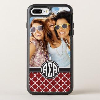 Alpha Sigma Alpha | Monogram and Photo OtterBox Symmetry iPhone 8 Plus/7 Plus Case