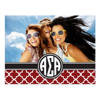 Alpha Sigma Alpha | Monogram and Photo Postcard