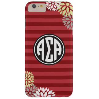 Alpha Sigma Alpha | Monogram Stripe Pattern Barely There iPhone 6 Plus Case