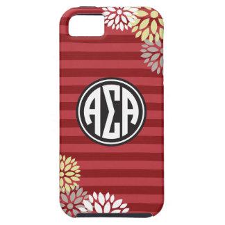 Alpha Sigma Alpha | Monogram Stripe Pattern iPhone 5 Case