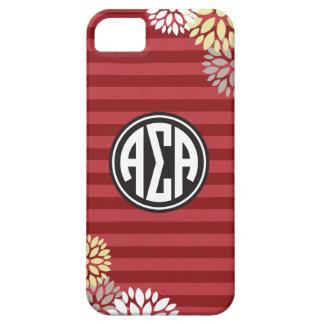 Alpha Sigma Alpha | Monogram Stripe Pattern iPhone 5 Covers