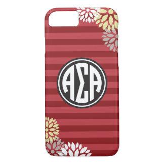 Alpha Sigma Alpha | Monogram Stripe Pattern iPhone 8/7 Case