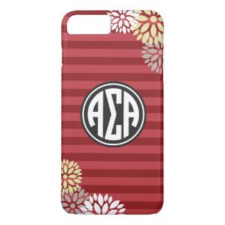 Alpha Sigma Alpha | Monogram Stripe Pattern iPhone 8 Plus/7 Plus Case