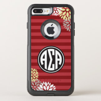 Alpha Sigma Alpha | Monogram Stripe Pattern OtterBox Commuter iPhone 8 Plus/7 Plus Case