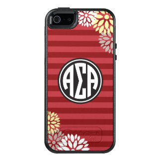 Alpha Sigma Alpha | Monogram Stripe Pattern OtterBox iPhone 5/5s/SE Case