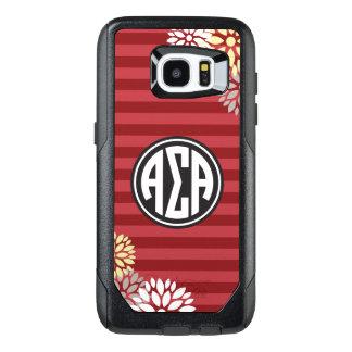 Alpha Sigma Alpha | Monogram Stripe Pattern OtterBox Samsung Galaxy S7 Edge Case