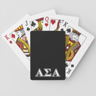 Alpha Sigma Alpha White and Black Letters Playing Cards