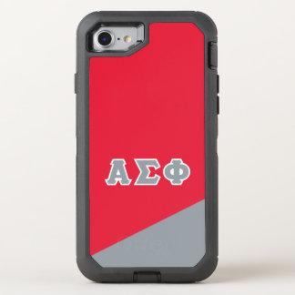 Alpha Sigma Phi | Greek Letters OtterBox Defender iPhone 8/7 Case