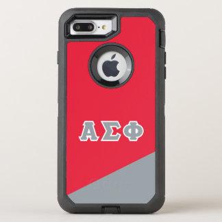 Alpha Sigma Phi | Greek Letters OtterBox Defender iPhone 8 Plus/7 Plus Case