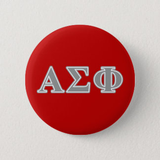 Alpha Sigma Phi Grey Letters 2 Inch Round Button
