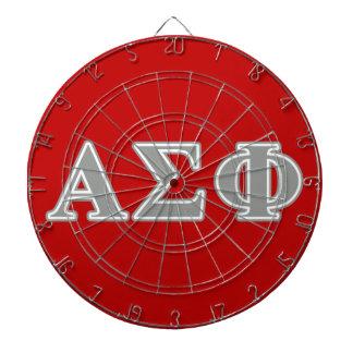 Alpha Sigma Phi Grey Letters Dartboard