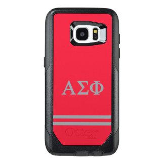 Alpha Sigma Phi | Sport Stripe OtterBox Samsung Galaxy S7 Edge Case