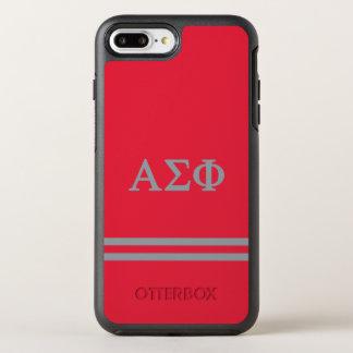 Alpha Sigma Phi   Sport Stripe OtterBox Symmetry iPhone 8 Plus/7 Plus Case