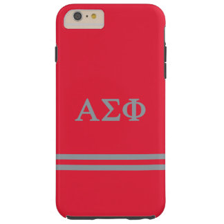 Alpha Sigma Phi | Sport Stripe Tough iPhone 6 Plus Case