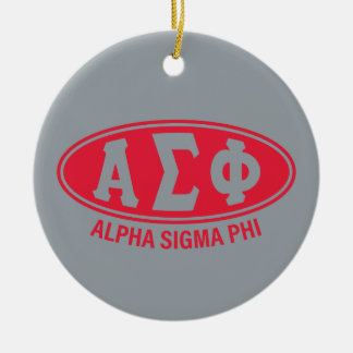 Alpha Sigma Phi | Vintage Ceramic Ornament