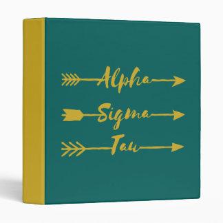Alpha Sigma Tau Arrow Binder