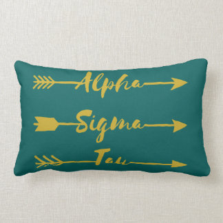 Alpha Sigma Tau Arrow Lumbar Pillow