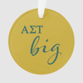 Alpha Sigma Tau Big Script Ornament