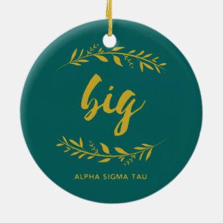 Alpha Sigma Tau Big Wreath Ceramic Ornament