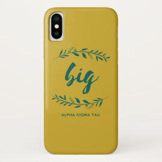 Alpha Sigma Tau Big Wreath iPhone X Case