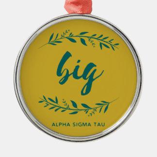 Alpha Sigma Tau Big Wreath Metal Ornament