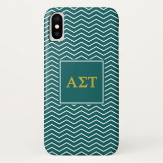 Alpha Sigma Tau | Chevron Pattern iPhone X Case