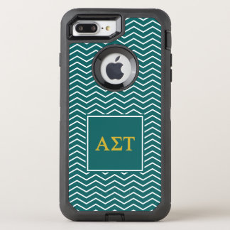 Alpha Sigma Tau | Chevron Pattern OtterBox Defender iPhone 8 Plus/7 Plus Case