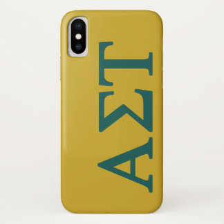 Alpha Sigma Tau Lil Big Logo iPhone X Case