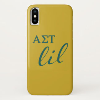 Alpha Sigma Tau Lil Script iPhone X Case