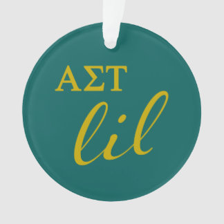 Alpha Sigma Tau Lil Script Ornament