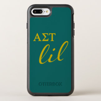 Alpha Sigma Tau Lil Script OtterBox Symmetry iPhone 8 Plus/7 Plus Case