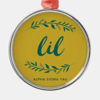 Alpha Sigma Tau Lil Wreath Metal Ornament