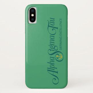Alpha Sigma Tau Logo 2 iPhone X Case