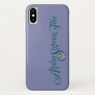 Alpha Sigma Tau Logo No Tagline iPhone X Case