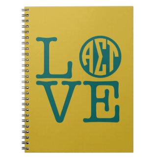 Alpha Sigma Tau Love Notebook