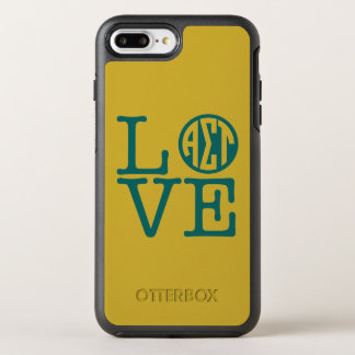 Alpha Sigma Tau Love OtterBox Symmetry iPhone 8 Plus/7 Plus Case