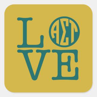 Alpha Sigma Tau Love Square Sticker