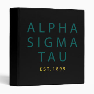 Alpha Sigma Tau Modern Type Binder