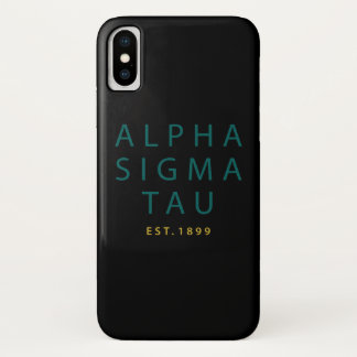 Alpha Sigma Tau Modern Type Case-Mate iPhone Case