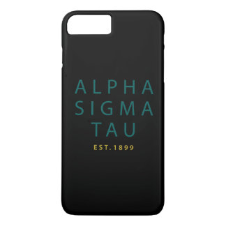 Alpha Sigma Tau Modern Type iPhone 8 Plus/7 Plus Case