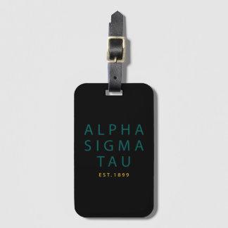 Alpha Sigma Tau Modern Type Luggage Tag